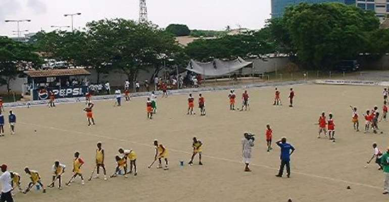 $100,000 for construction of new hockey pitch