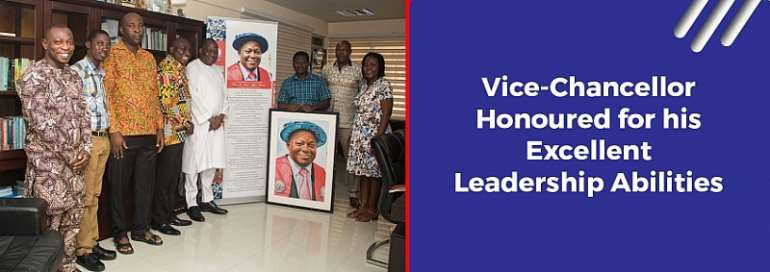UEW Rev. Prof Afful-Broni Honoured For His Firmness, Excellent Leadership Abilities