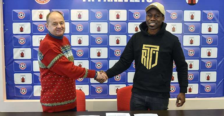 Ghanaian midfielder Jeffrey Sarpong seals move to Lithuanian club FC Panevezys