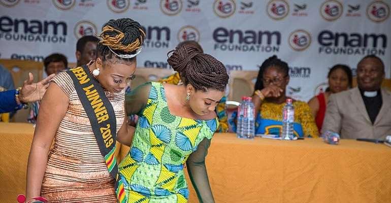 2019 Ghana's Most Beautiful 1st Runner-Up Enam Fights Teenage Pregnancy