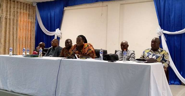 Minister addressing the stakeholders