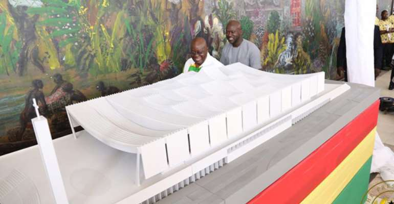 FLASHBACK! President Akufo-Addo at the unveiling of the Cathedral project