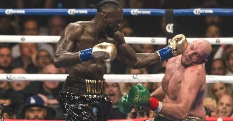 Tyson Fury was knocked down twice by Deontay Wilder in their first fight, which ended in a draw with both men claiming they deserved to win