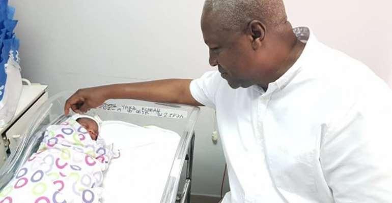 John Mahama and his 'grandson'