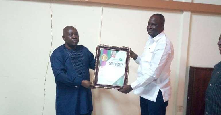 Upper West Regional Minister Honoured