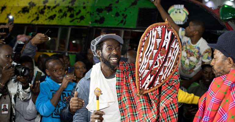 Beautiful Sights & Sounds As Buju BantonLands In Kenya