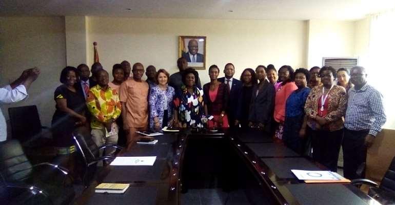 UN-Ghana Team Call On Sanitation Minister
