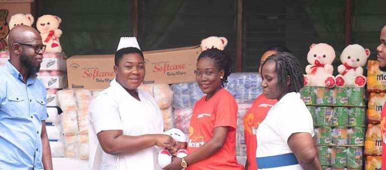 Karpowership Ghana Donates To Children At The Achimota Hospital On Valentine's Day