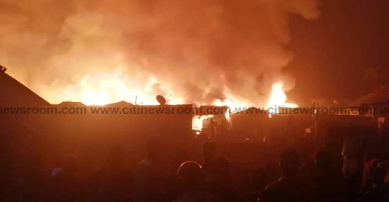 Kumasi: Fire Destroys Structures At Dagombaline