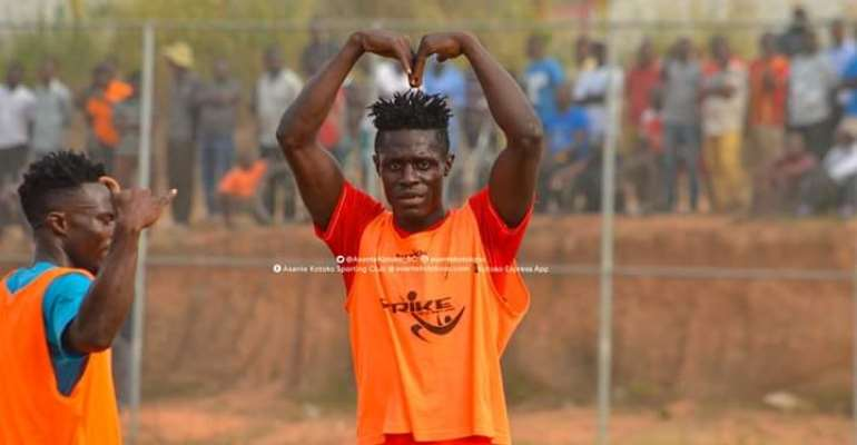 Kotoko Striker Kwame Poku Scores Five Goals In Friendly Win Over Jachie Youth Academy