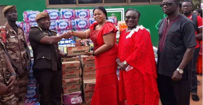 Bono Regional Minister Donates To Sunyani Central Prisons On Val's Day