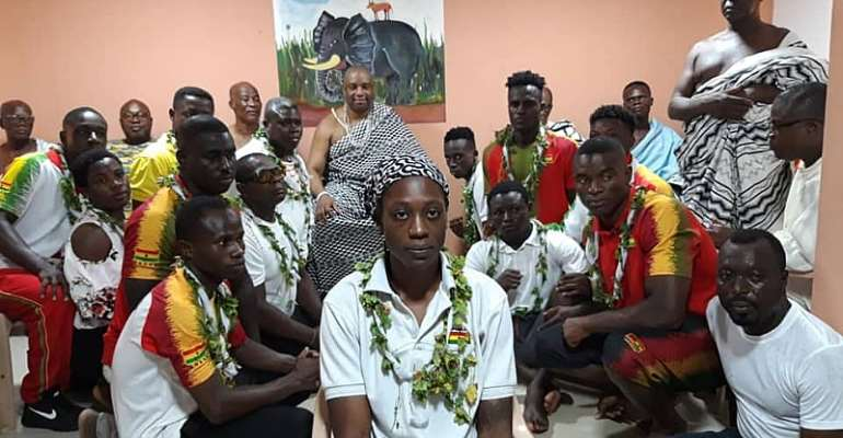 Black Bombers Receive Royal Blessings From Ga Mantse