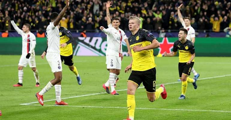 UCL: Dortmund Stun PSG With Sensational Haaland Double
