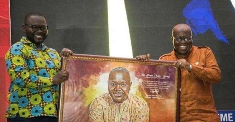 President, Nana Addo Dankwa Akufo-Addo (right) with Francis Asenso-Boakye
