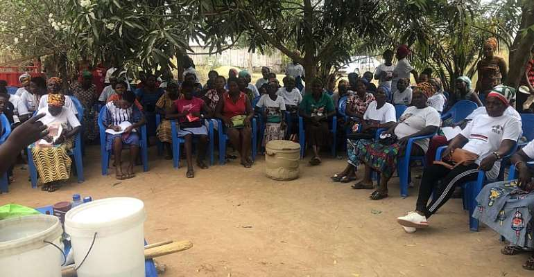 NDC Akatsi South Women's Wing Hold Skill Training For Women Organisers