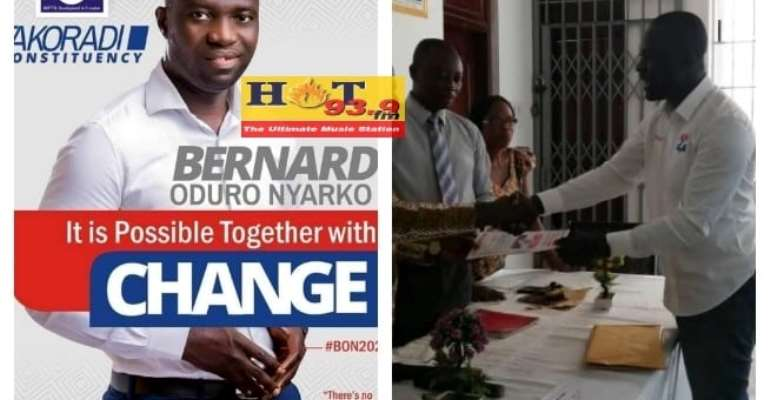 Bernard Nyarko Submits Nomination Forms; Vows To Unseat Incumbent MP