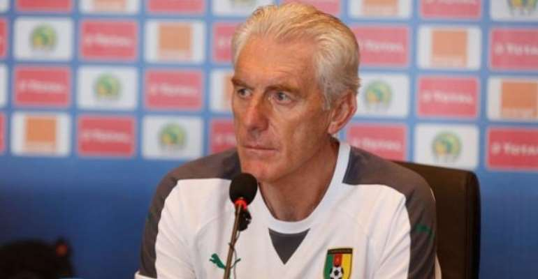 AFCON 2017: Cameroon coach Hugo Broos coy over tactics against Ghana; but does not want game to end in penalties