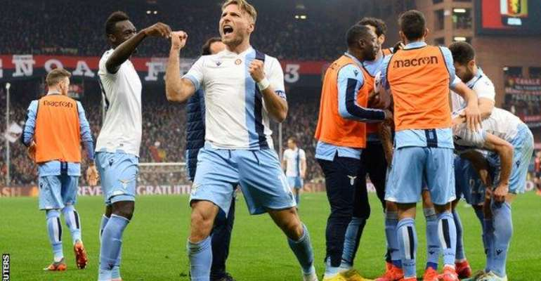 Ciro Immobile scored against Genoa, the team he played for in 2012-13