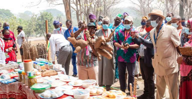 Partnership to promote the cultivation of improved cassava varieties and consumption of locally processed agro-products kicks off