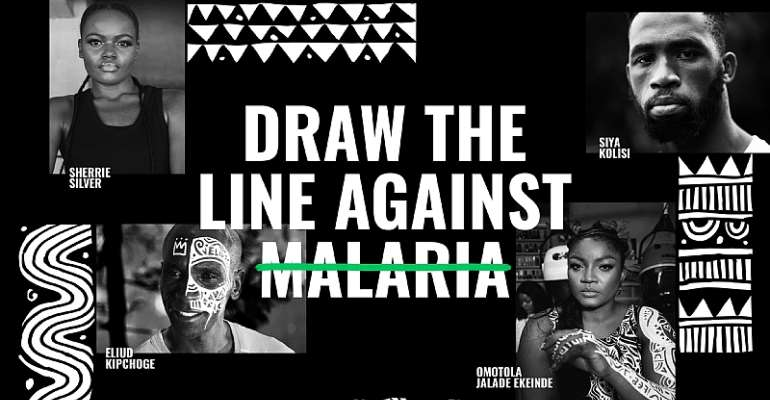 African Stars Unite Youth To 'draw The Line' Against Malaria And Take Back Their Futures