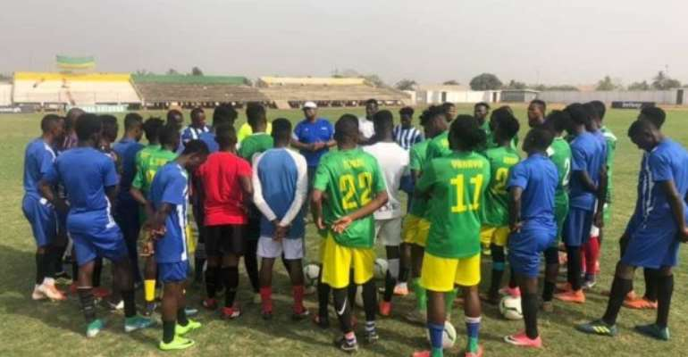 Coach Paa Kwasi Fabin Holds First Training Session At Aduana Stars