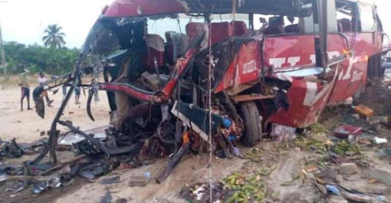 Accident involving VIP KIA Grand Bird kills 16 on Accra-Kumasi Highway