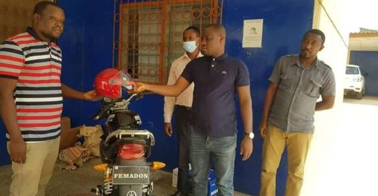 Kwahu East DCE presents motorbike to Assembly