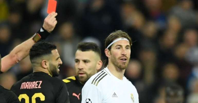 Ramos Equals Champions League Red Card Record