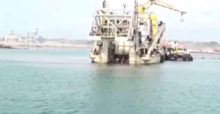 Takoradi Port Dredging Begins