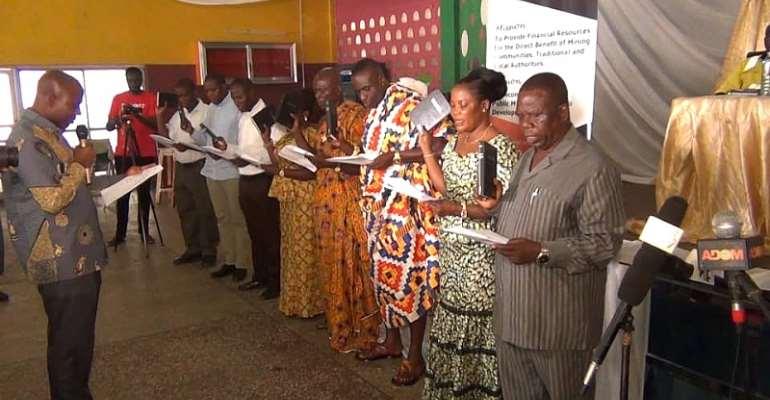 Local Management Committee Inaugurated In Obuasi East