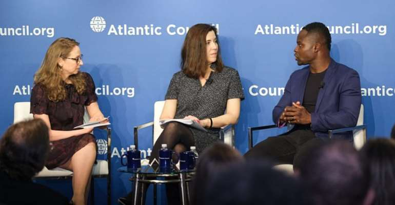 Olympian Akwasi Frimpong Of Ghana At African Youth Survey Launch In DC