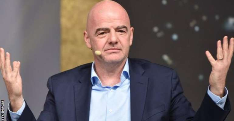 Gianni Infantino has been speaking in Belfast before Saturday's annual general meeting of the International Football Association Board