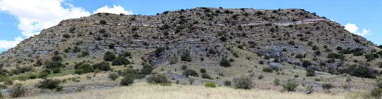 Loskop, one of the two hills at the Permo-Triassic boundary site in the Karoo Basin in South Africa's Free State province. - Source: Jennifer Botha