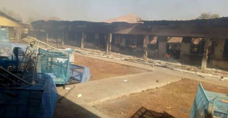 Buipe SHS Students Sent Home After Fire Destroys Girls' Dormitories