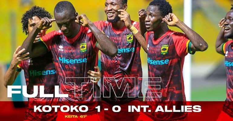 GHPL: Asante Kotoko reclaim top-four spot after narrow win against Inter Allies