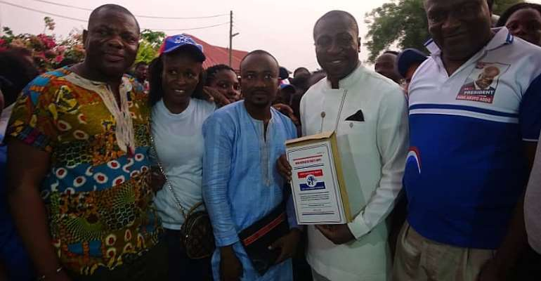 NPP Primaries:  Supporters Picks Form For Afenyo-Markin For Effutu