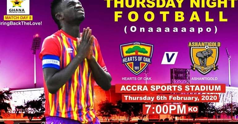 Hearts Of Oak Announce Tickets Prices For Ashgold Clash On Thursday Night