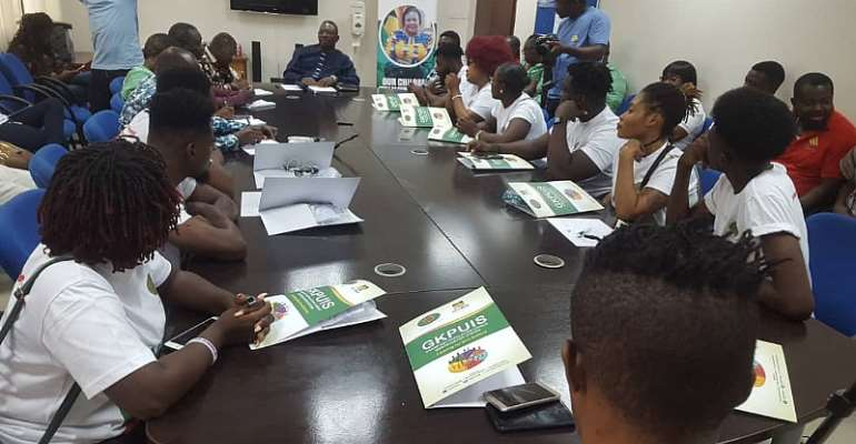 Mentor Reloaded Contestants Visit Ghana AIDS Commission