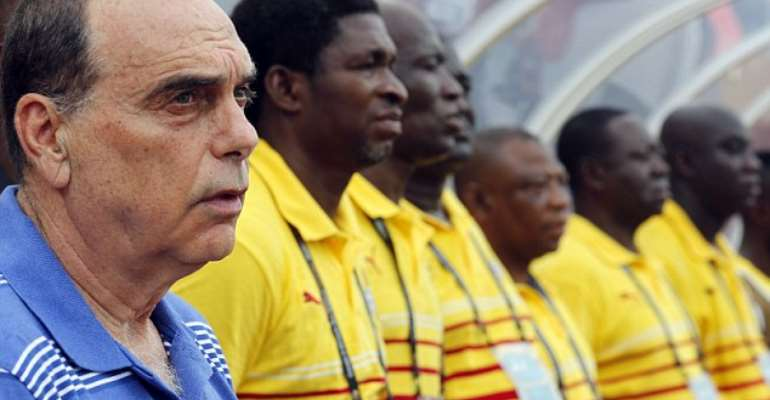 Ghana Coach Avram Grant with his assitsnt Maxwell Konada