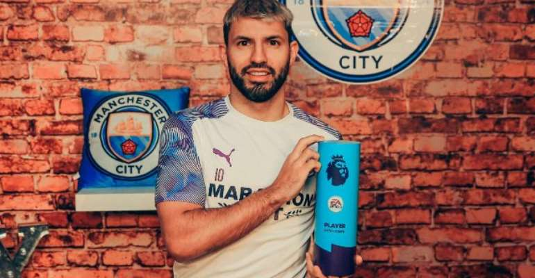 Aguero Wins Record-Breaking Seventh Premier League Player Of The Month Prize