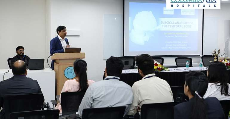 Workshop With Live Surgeries To Demonstrate Complex Skull Based Procedures Held At Columbia Asia Hospital, Sarjapur Road