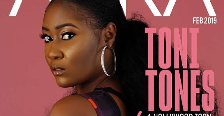 Toni Tones Sizzles on the Cover of Aura Magazine