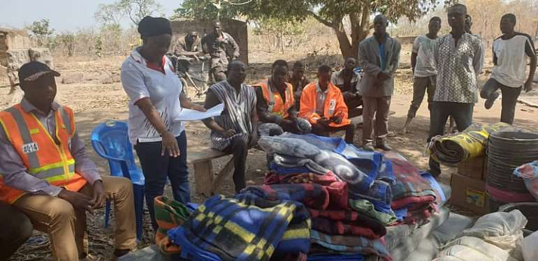 Kujeri Fire Victims Receive Support From NADMO