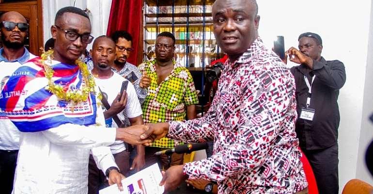 Vincent Sowah Odotei 'Terminator' Gerald Pick Form To Contest La Dadekotopon Seat