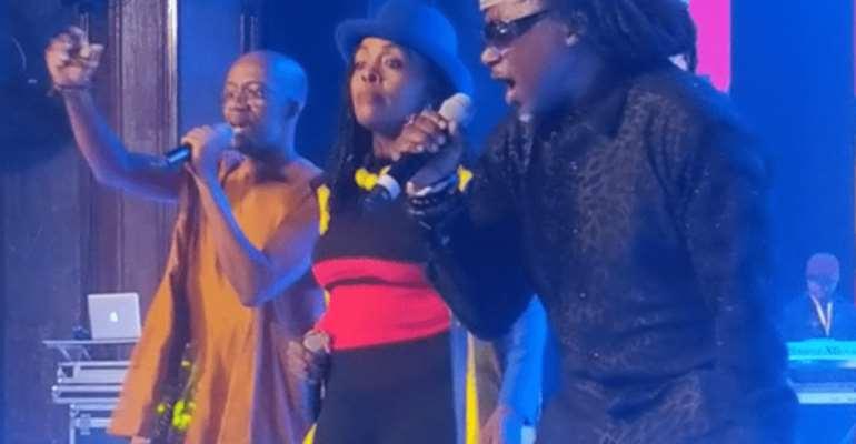 Rex Omar, Akosua Agyapong and Amandzeba Nat Brew