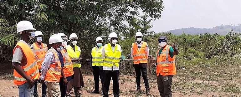 ECOWAS Commission President visits the Singrobo-ahouaty hydro-electricity development Project in Côte d'Ivoire.