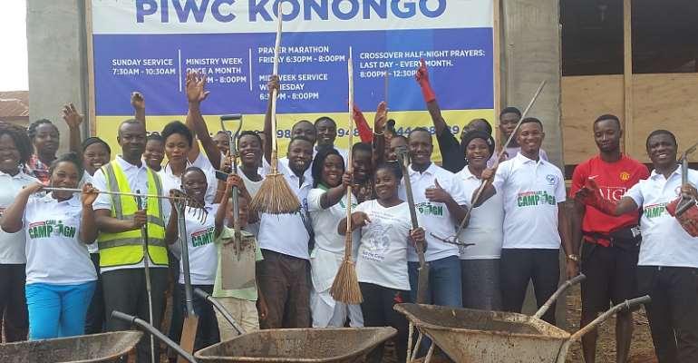PIWC Cleans Asante-Akim Central Municipal