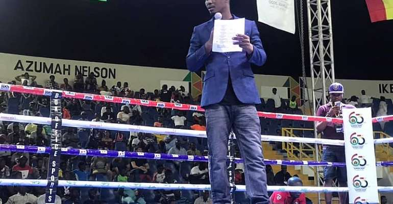 Introducing Mustapha Nettey – The New Boxing MC/Ring Announcer From Bukom