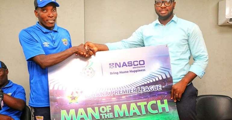 Afutu's Brace Earns Him NASCO MoTM Award In Hearts Of Oak's Win Against Olympics