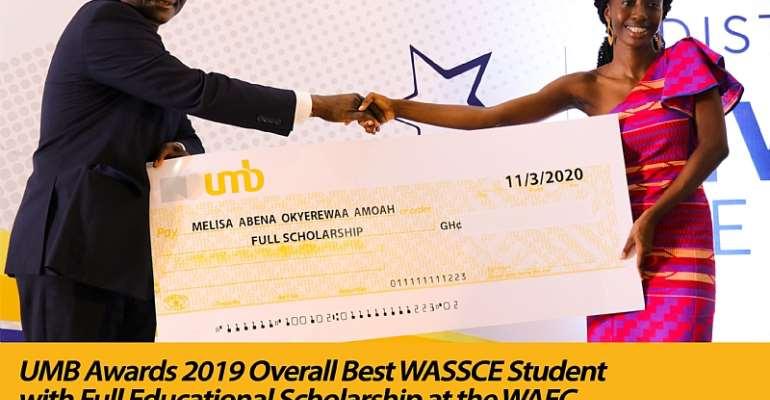 UMB Presents Scholarship To 2019 Overall Best WASSCE Student